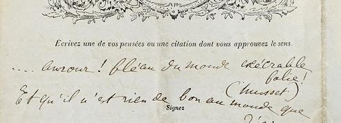On a retrouvé le tout premier «questionnaire de Proust»