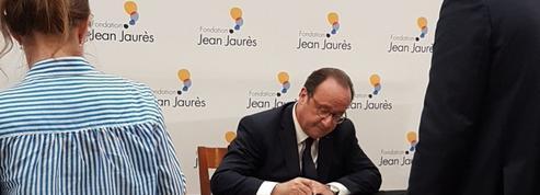Devant la Fondation Jean Jaurès, Hollande s'offre une campagne de réhabilitation