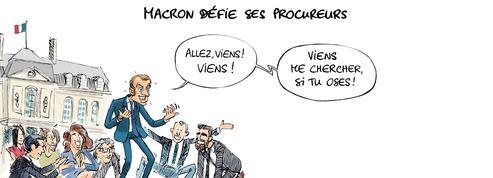 Le dessin d'Ixène : «Macron défie ses procureurs»