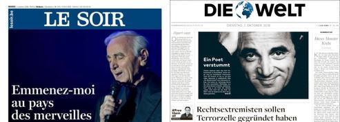 Charles Aznavour, le «Franck Sinatra français» salué par toute la presse internationale