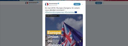 Vidéo sur les européennes : «Le gouvernement impose sa grille de lecture des élections»