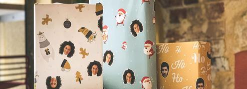 Insolite: du papier cadeau avec le visage de vos proches