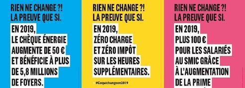 «Rien ne change ?! La preuve que si» : LaREM va placarder 400 000 affiches dès samedi