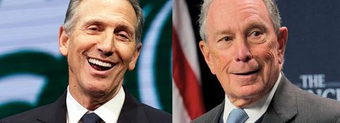 Présidentielle de 2020: Bloomberg et Schultz, deux milliardaires en embuscade