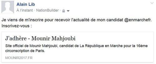Test réalisé sur le site de Mounir Mahjoubi