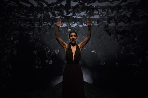 Lina El Arabi dans «Mon ange», mis en scène par Jérémie Lippman.