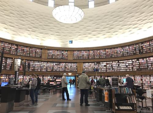 La bibliothèque de Stockholm.