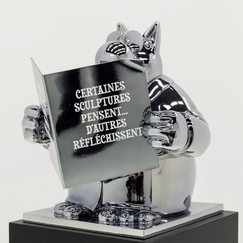 «La Réflexion du Chat» - 2015 - Résine chromée