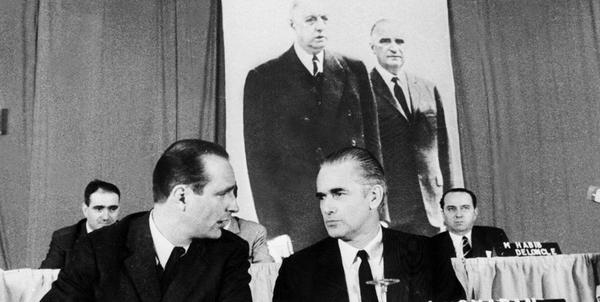 Chirac et Chaban-Delmas en 1971 lors des assises de l'UDF.