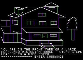 L'un des premiers univers graphiques de jeu vidéo, Mistery House (1979)