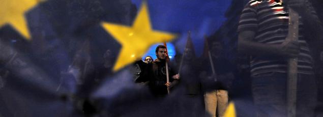 Manifestation à Athènes dans l'attente du référendum de dimanche.