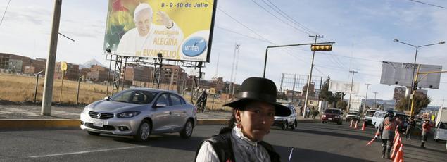 Après une escale en Équateur, le souverain pontife est attendu mercredi à La Paz en Bolivie.