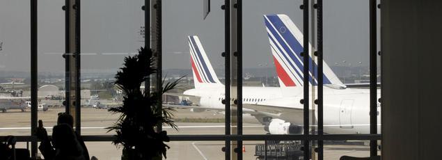Des avions de la compagnie aérienne Air France, à l'aéroprt d'Orly.