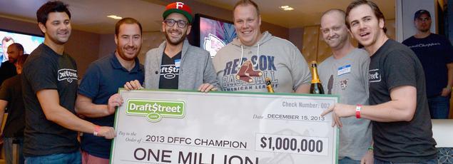 Une remise de prix à Las Vegas après une compétition de «fantasy football» en 2013.