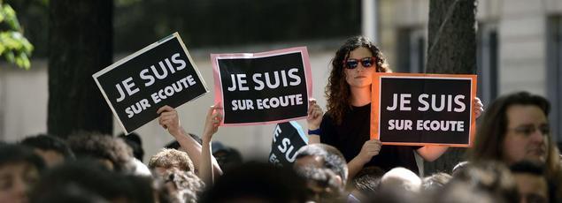 Une manifestation, à Paris, contre le projet de loi sur le Renseignement.