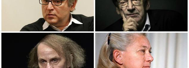 Michel Onfray, Alain Finkielkraut, Michel Houellebecq et Elizabeth Badinter
