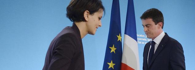 Najat Vallaud-Belkacem et Manuel Valls.