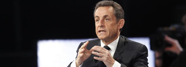 Nicolas Sarkozy dans Des paroles et des actes, en 2012.