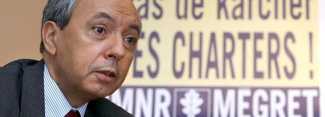 Bruno Mégret, ancien numéro 2 du Front national, fondateur du MNR.