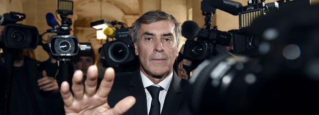 Jérôme Cahuzac, au premier jour de son procès à Paris, le lundi 8 février 2016.