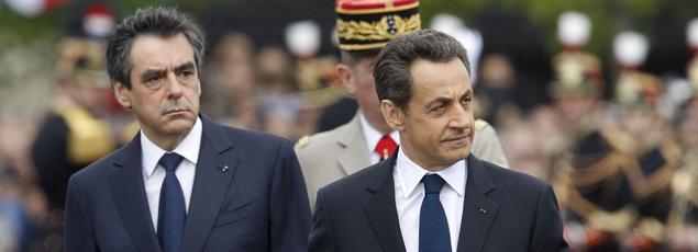 François Fillon (à gauche) et Nicolas Sarkozy en opposition sur la révision constitutionnelle