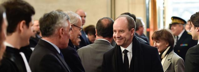 Le ministre de la Justice au tribunal de Bordeaux.
