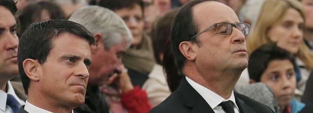 Manuel Valls et François Hollande, le 27 octobre 2015
