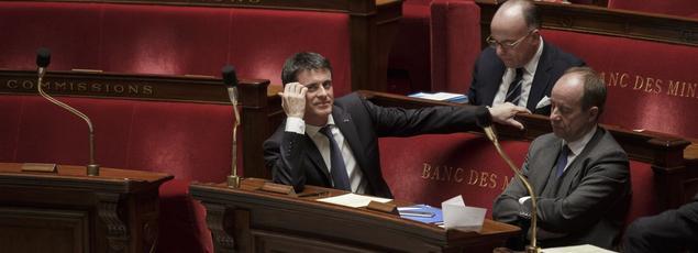 Manuel Valls, mercredi à l'Assemblée nationale.
