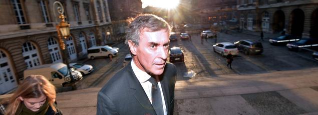 Jérôme Cahuzac, mercredi, lors de son arrivée au tribunal correctionnel de Paris.