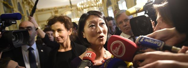 Très émue, l'ex-ministre Fleur Pellerin a d'abord rappelé, dans un long discours, les «combats» qu'elle avait menés depuis la Rue de Valois. «J'ai voulu changer le réel, casser les cloisons, faire entrer la politique publique dans le XXIe siècle»