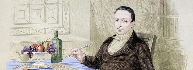 Gravure de Bertall datant de 1840 représentant Brillat-Savarin.