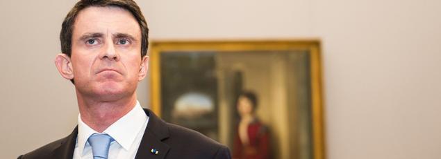 Manuel Valls visitant la gallerie Neuen Pinakothek de Munich, le 12 février.