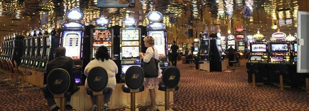 Machines à sous au casino «Pasino» d'Aix-en-Provence.