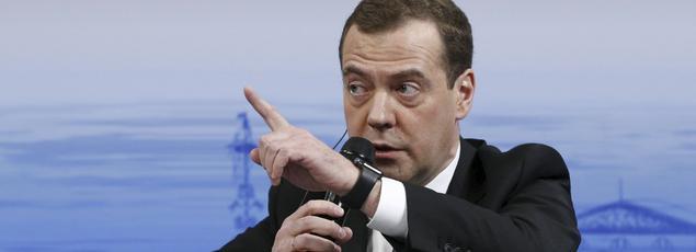 Dmitri Medevedv, le premier ministre russe, samedi à Munich.