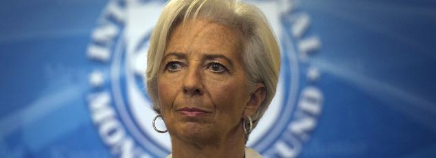 Christine Lagarde, la directrice du FMI, en février dernier.