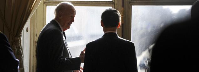 Valéry Giscard d'Estaing et Nicolas Sarkozy.
