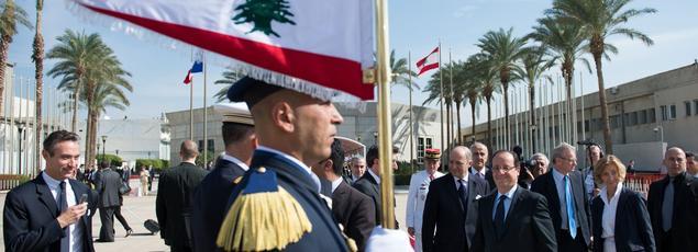 François Hollande à Beyrouth lors de sa dernière visite au Liban, en novembre 2012.