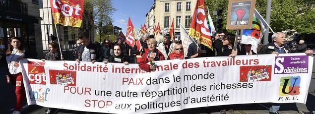 Manifestation à Bordeaux, ce 1er mai 2016.
