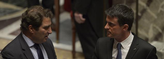 Christian Jacob et Manuel Valls à l'Assemblée, le 26 avril 2016.