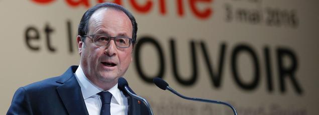 François Hollande au théâtre du Rond Point.