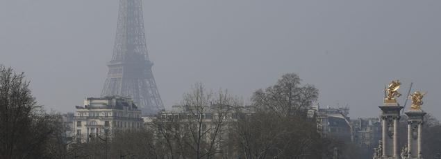 La pollution à Paris, où le taux de particules fines est aussi très élevé.
