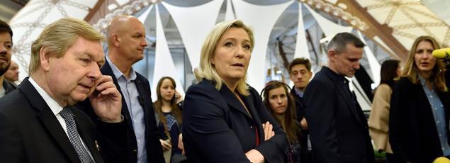 Marine Le Pen à Paris, le 4 mai.