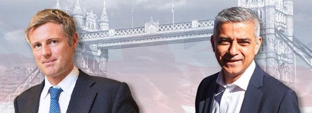 Zac Goldsmith et Sadiq Khan.