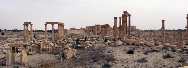 Il s'agit d'un sérieux revers pour Damas face à ses ennemis djihadistes qui mènent une guerre extrêmement mouvante dans le désert. Ici, la cité de Palmyre.