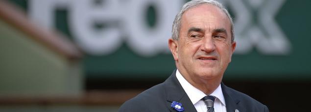 Le président de la Fédération Française de Tennis, Jean Gachassin, à Roland-Garros en 2014.
