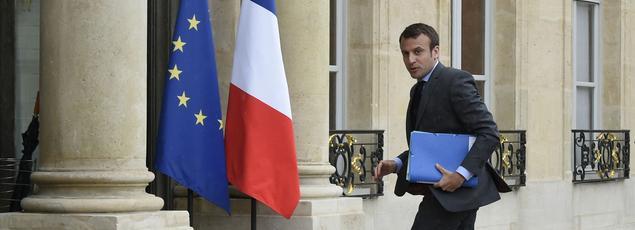 Emmanuel Macron à l'Élysée, le 10 mai 2016.