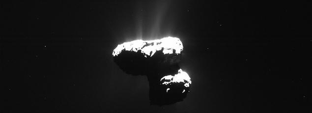 Les molécules de glycine détectées par Rosetta proviennent des poussières éjectées du noyau de la comète.