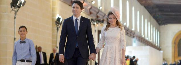 Justin Trudeau et son épouse, Sophie en 2015.