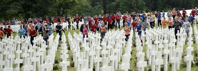 La cérémonie de la bataille de Verdun, dimanche, à Douamont (Meuse)