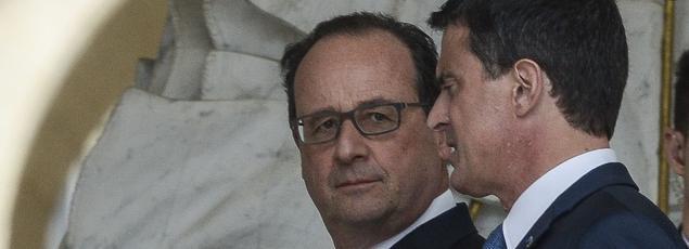 François Hollande et Manuel Valls à l'Élysée, le 18 mai.